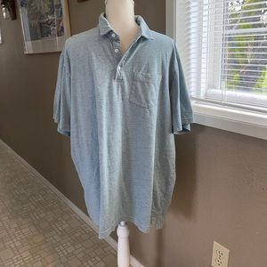 George green and gray striped men's polo, Sz. 2X